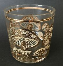 Vintage Culver Ltd 22k Gold Magic Mushroom Mycelium Old Fashioned Glass Loball