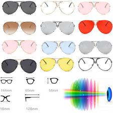 Women Oversized Aviator Cat Eye Sunglasses Flat Top Big Large Luxury Mirrored