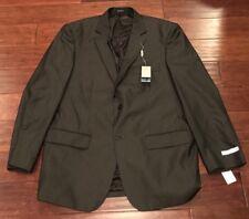 Geoffrey Beene Men's Black Gray Pin Stripe Sport Coat Blazer Suit Jacket 46L NWT