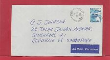 25 cent Landscape issue airmail to SINGAPORE 1977 Canada cover