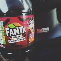 NEW FANTA BLACK BLOOD ORANGE - 500 ML - HALLOWEEN EXOTIC VERY RARE SODA LIMITED