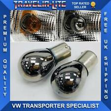 VW Transporter T5 T5.1 T6 Chrome Headlight Indicator Bulbs 581 Brand New