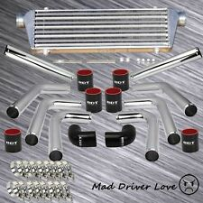 "UNIVERSAL 8x 2.5"" ALUMINUM PIPE TURBO FMIC INTERCOOLER PIPING KIT BLACK COUPLER"