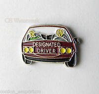 DESIGNATED DRIVER HUMOR NOVELTY FUNNY LAPEL PIN BADGE 1 INCH