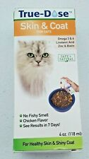 True-Dose Natural Supplements for Cats Skin & Coat Chicken Flavor 4 oz NIB
