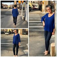 Stitch Fix West Kei Eralia Bell Sleeve Top Blouse - Size Large NEW
