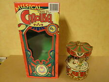 MUSICAL TREE TOY CAROUSEL MUSIC BOX WITH 12 TRADITIONAL CHRISTMAS SONGS