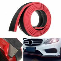 2.5M Car Front Bumper Lip Splitter Side Skirt Spoiler Protector Rubber Red Black