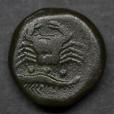 A BEAUTIFUL BRONZE TETRAS OF SICILY, AKRAGAS. EAGLE / CRAB. CIRCA, 415-406 BC.