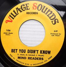 MIND READERS deep soul VILLAGE SOUNDS 45 BET YOU DIDN'T KNOW ~BITTER TEARS JR458