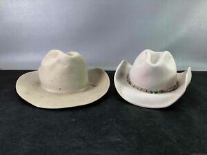 Men's Stetson Sz 7 & Rodeo King Beige Hats Sz M