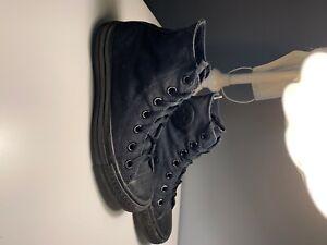 converse high tops womens size 6 black