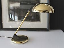 Mid Century West German Saucer Desk Lamp Brass&Plastic ala Christian Dell Kaiser