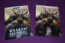 WARHAMMER 40000 40K - Codex Orks Supplement Waaagh! Ghazghkull 2014 V7