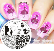 BORN PRETTY Nail Art Stamping Plate Pretty Girl French Theme Image Template BP69