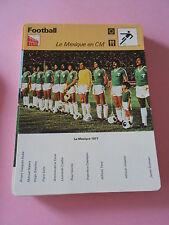 Football  Le Mexique en CM  Fiche Card 1978
