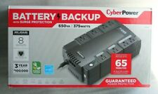 Cyber Power Surge Protector SX650G BATTERY BACKUP 375W 650VA 8 OUTLETS