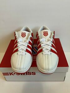 K Swiss Classic Luxury Edition Red Stripe Shoes Size 10 M - New in Box