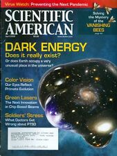 2009 Scientific American Magazine: Dark Energy/Color Vision/Vanishing Bees/PTSD