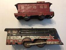 VIntage Hafner Clockwork Wind up Train Engine /No Key / Caboose Parts/ Repair