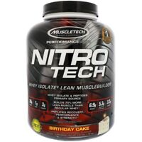 Muscletech Nitro Tech Whey Isolate + Lean Musclebuilder, Birthday Cake 3.97 lbs