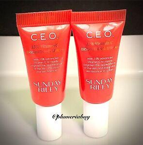 2x SUNDAY RILEY CEO 15% Vitamin C Brightening Serum 5ml/0.17oz C.E.O.