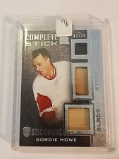 2014 ITG Gordie Howe Complete Stick Blade Tape 3/15 Only 15 Made!!! Mr. Hockey