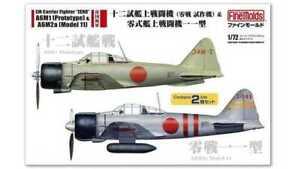 """Fine Molds FP34 - 1/72 Ijn Vettore Fighter """"Zero """" A6M1 (Prototipo) & A6M2a"""