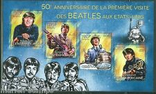 CENTRAL AFRICA 2014 50th ANNIVERSARY BEATLES IN THE UNITED STATES SHEET MINT NH