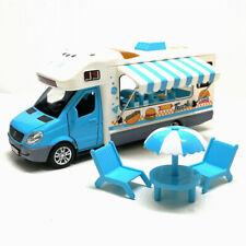1:32 Hamburger Ice Cream Fast Food Truck Model Car Diecast Toy Vehicle Gift Blue