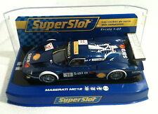 qq H 2904 SUPERSLOT MASERATI MC12 PLAYTEAM # 11  SARA - Scalextric UK -