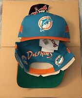 Vtg Miami Dolphins Snapback Hat Cap Era 80s Marino 90s Eastport Backtalk NWT NFL