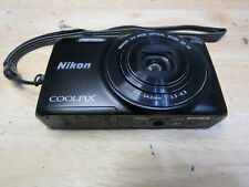 Nikon COOLPIX S6800 16MP Digital Camera - Black As Is For Parts Not Working