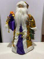 "22"" Japanese Santa Tree Topper Bag Wreath Purple Gold Decor Christmas"