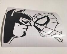 Batman V Spiderman, Coche Decal/Adhesivo para Windows, parachoques, paneles, Laptop