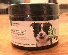 Nutra Thrive Canine Nutritional Supplement 4.02 oz jar  NEW Sealed