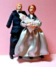 1/12 Scale Streets Ahead Father,Mother & baby Porcelain Dolls ~Goosey Gander