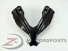 2013-2017 Ninja 300 EX300 Upper Front Nose Headlight Fairing Cowl Carbon Fiber