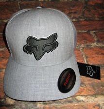 MENS FOX FLEXFIT FITTED GRAY HAT CAP SIZE L/XL