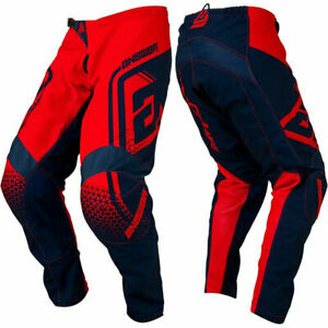 YOUTH KIDS ANSWER SYNCRON MOTOCROSS PANTS - DRIFT BRIGHT RED / MIDNIGHT