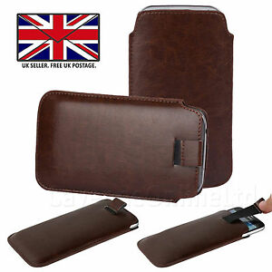 VODAFONE SMART FIRST 7 - PU Leather Slim Pull Tab Phone Case Cover Sleeve Pouch
