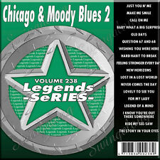 KARAOKE CD+G LEGEND SERIES CHICAGO & THE MOODY BLUES #238 NEW In Vinyl w/Print