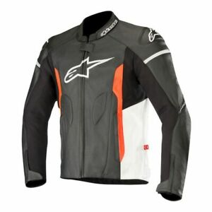 Alpinestars Faster Airflow Leather Jacket 60 Black/White/Red