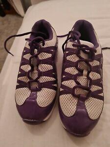 Purple Bloch split sole jazz trainers size 4
