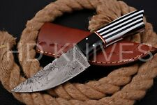 8 inch HD Custom fixed blade Damascus steel full tang Hunter skinner knife 133