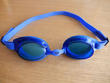 BLUE SWIMMING GOGGLES POOL SWIM GLASSES ADJUSTABLE NOSE & HEAD NEW ADULTS & KIDS