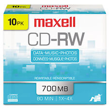 Maxell CD-RW Discs 700MB/80min 4x Silver 10/Pack 630011