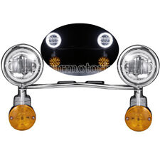 LED Passing Turn Signal Lights Bar for Harley Touring Street Glide Road King CVO