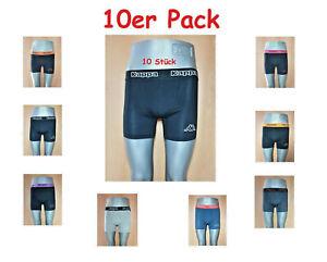 Kappa 10er Pack 10 Stück Boxershorts Unterhose S M L XL XXL Schwarz + Farbmuster