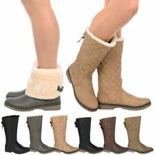 Fur Pull On Synthetic Boots for Women
